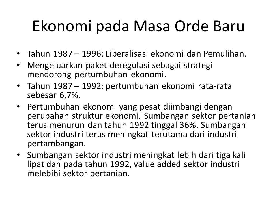 Ekonomi pada Masa Orde Baru