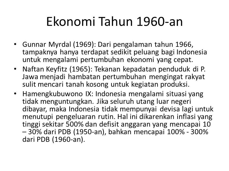 Ekonomi Tahun 1960-an