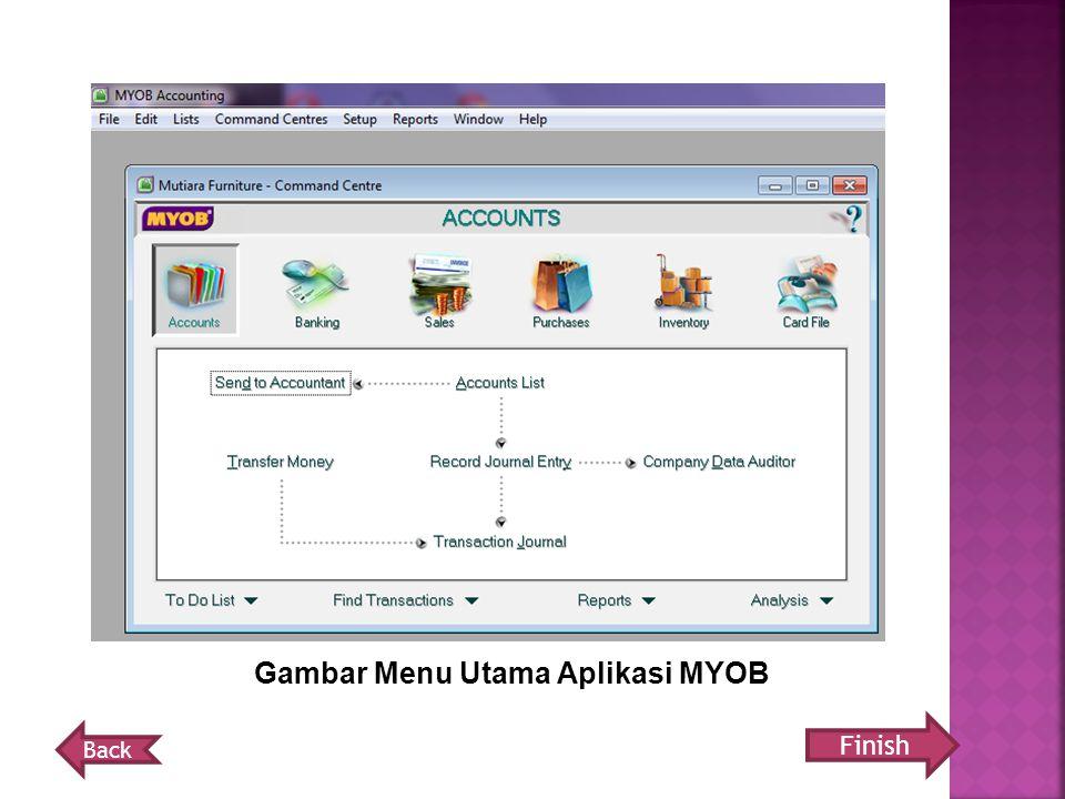 Gambar Menu Utama Aplikasi MYOB