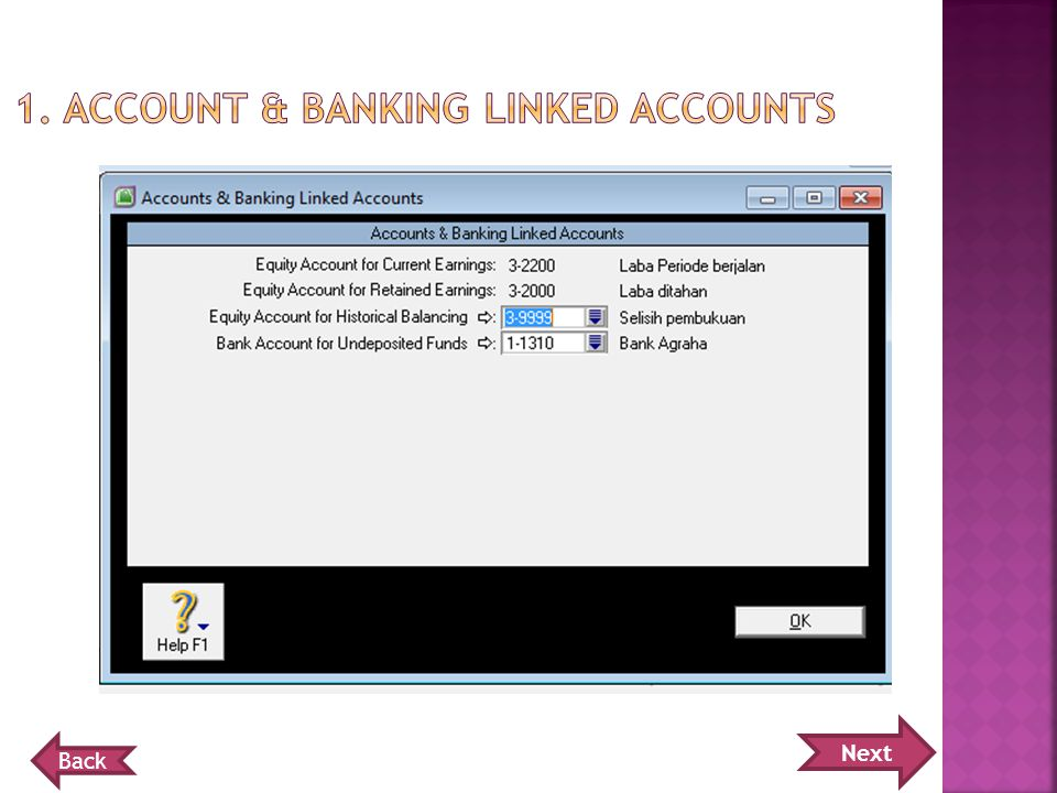 1. Account & banking linked accounts