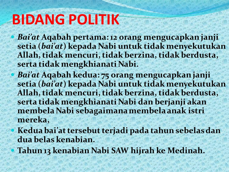 BIDANG POLITIK