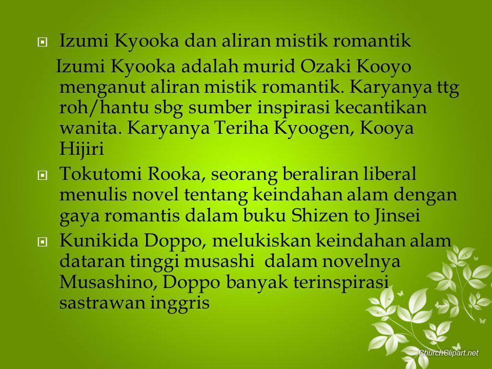 Izumi Kyooka dan aliran mistik romantik