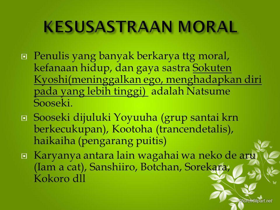 KESUSASTRAAN MORAL