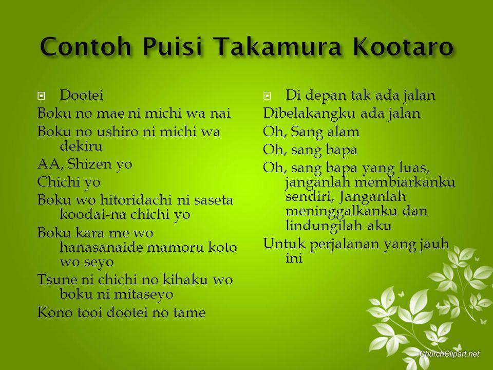 Contoh Puisi Takamura Kootaro