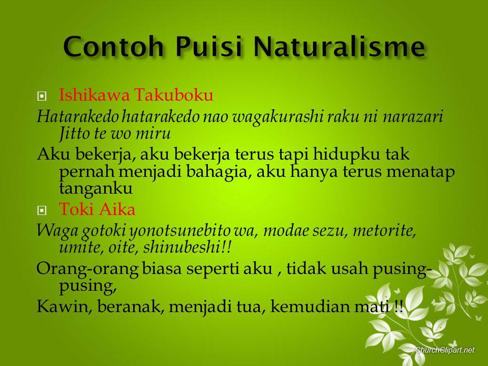 Contoh Puisi Naturalisme