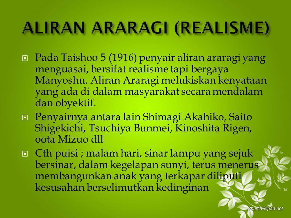 ALIRAN ARARAGI (REALISME)