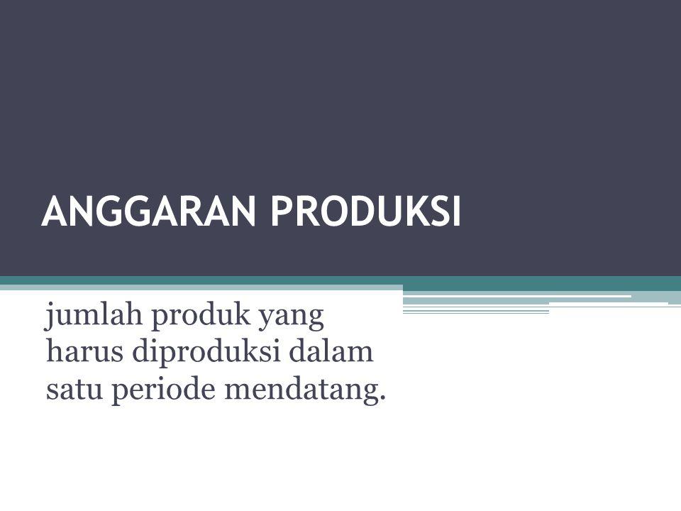 jumlah produk yang harus diproduksi dalam satu periode mendatang.