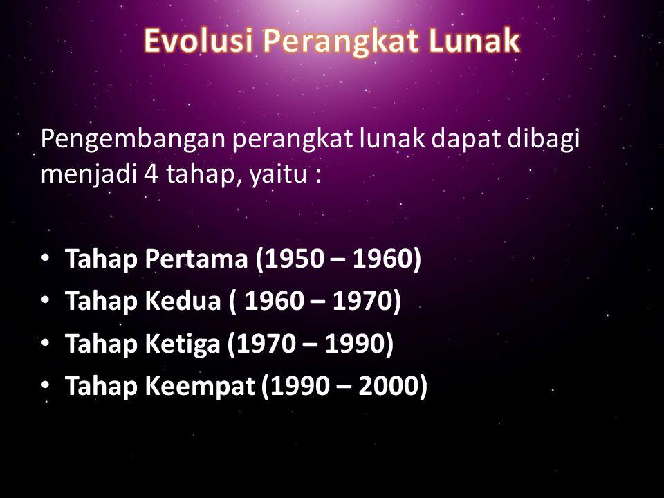 Evolusi Perangkat Lunak