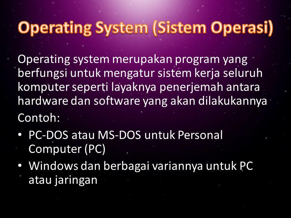 Operating System (Sistem Operasi)