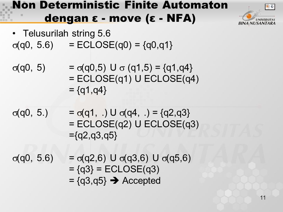 Non Deterministic Finite Automaton dengan ε - move (ε - NFA)