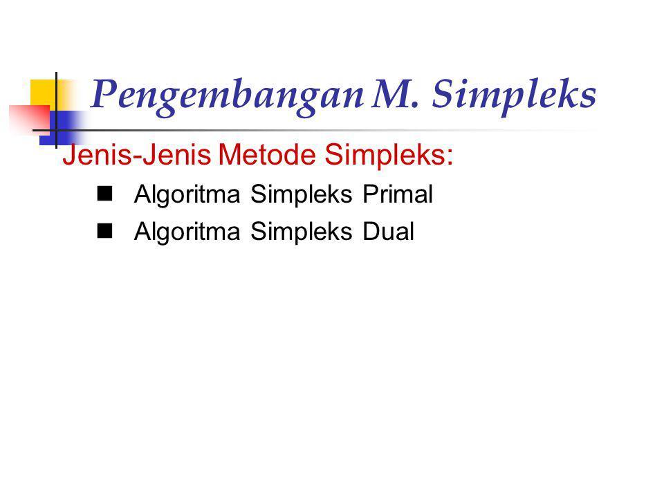 Pengembangan M. Simpleks