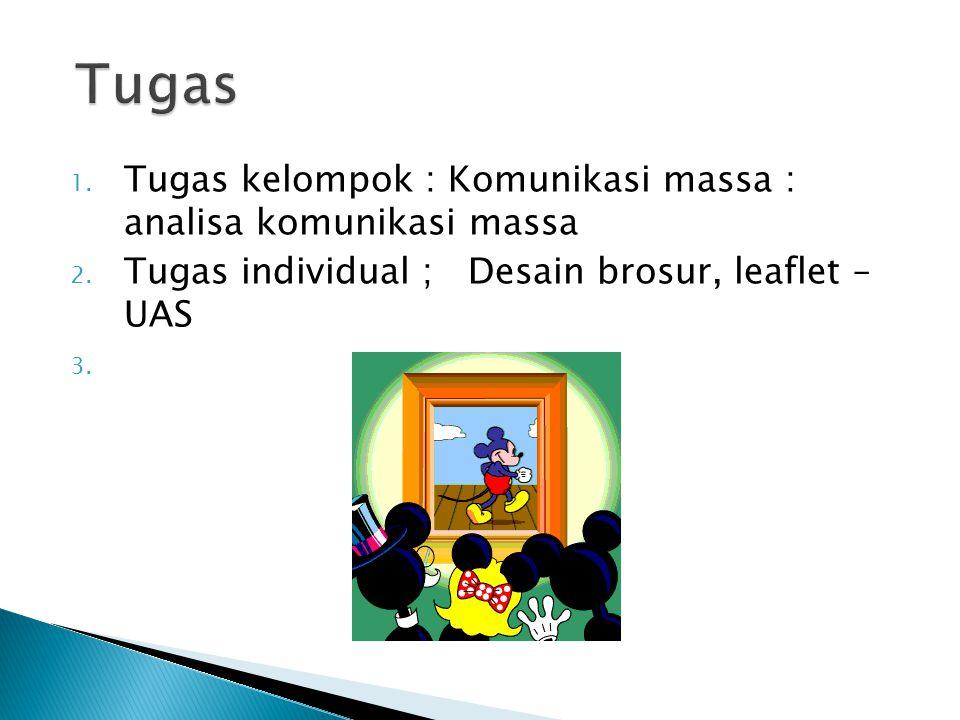 Tugas Tugas kelompok : Komunikasi massa : analisa komunikasi massa