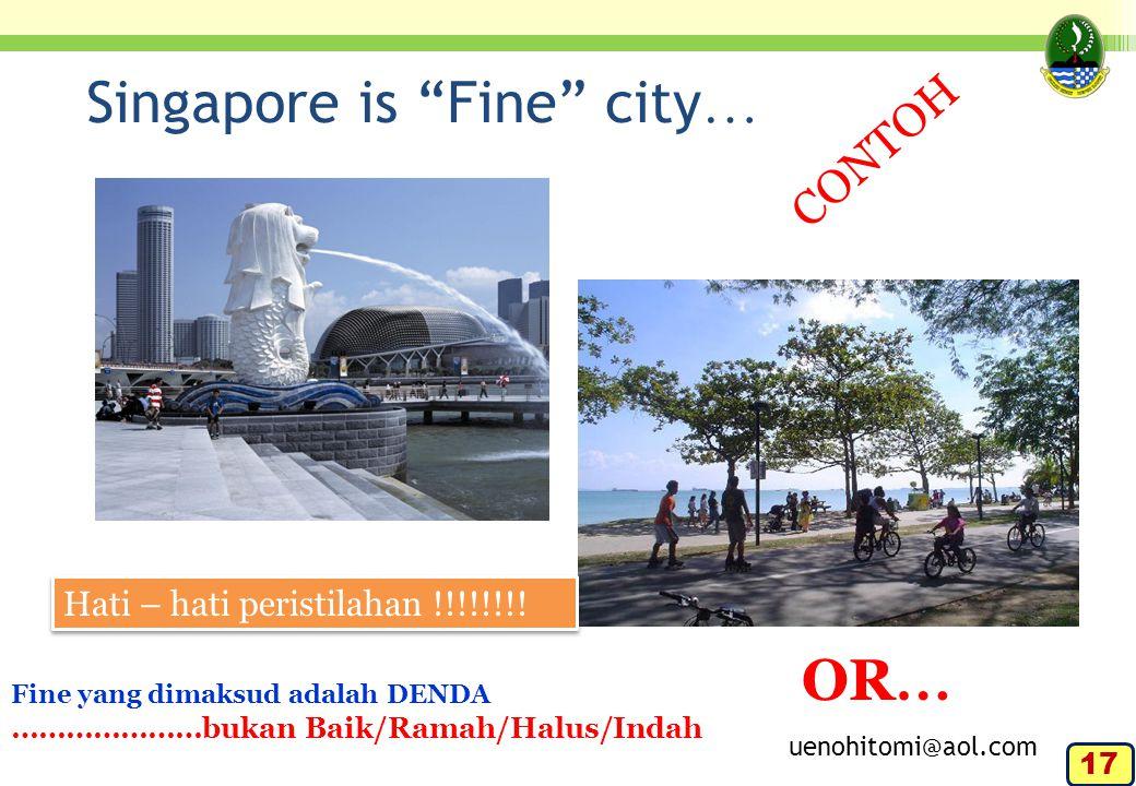 Singapore is Fine city…