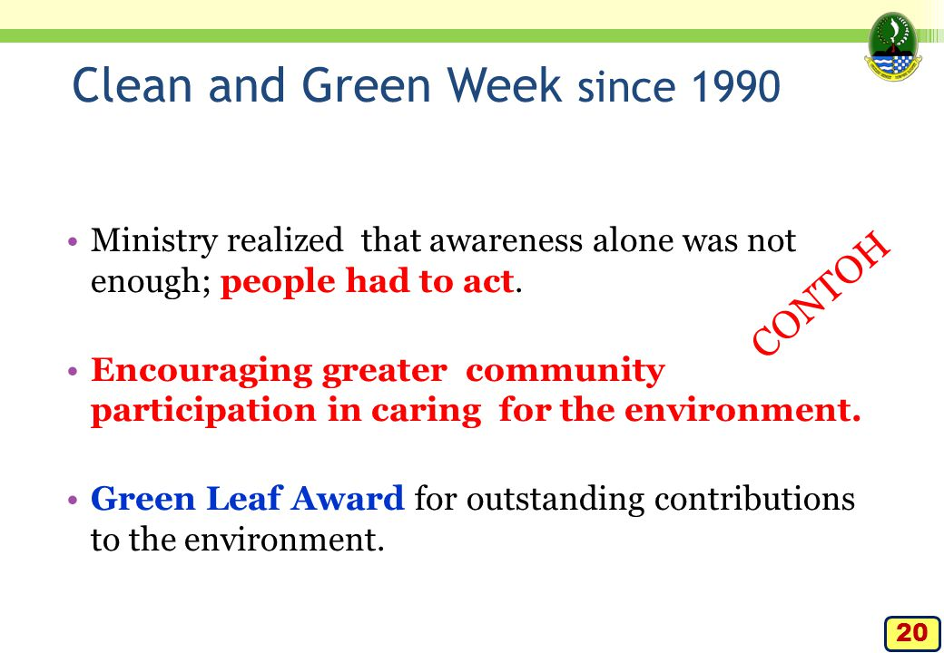 Clean and Green Week since 1990