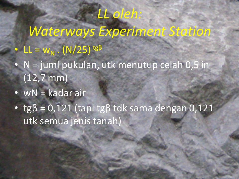 LL oleh: Waterways Experiment Station