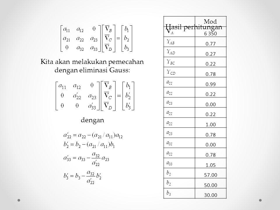 Kita akan melakukan pemecahan dengan eliminasi Gauss: