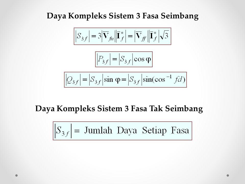 Daya Kompleks Sistem 3 Fasa Seimbang