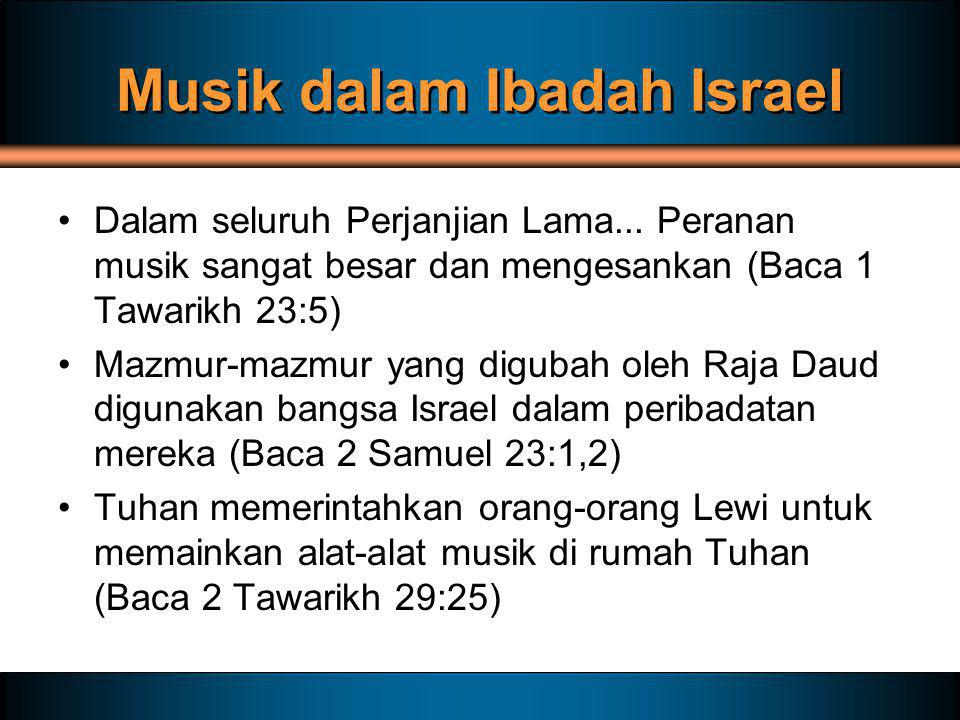 Musik dalam Ibadah Israel