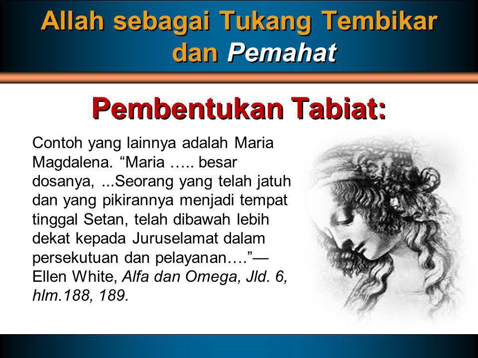 Allah sebagai Tukang Tembikar dan Pemahat
