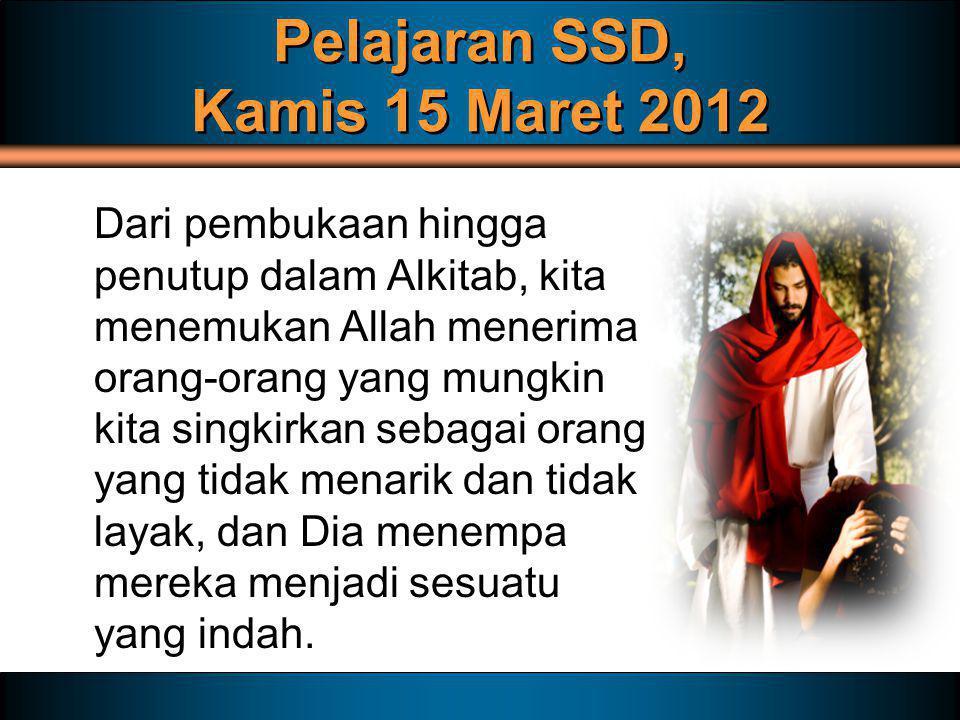 Pelajaran SSD, Kamis 15 Maret 2012