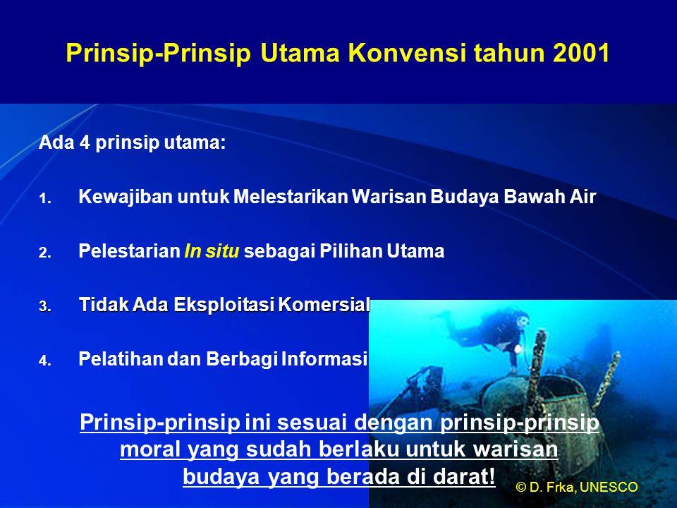 Prinsip-Prinsip Utama Konvensi tahun 2001