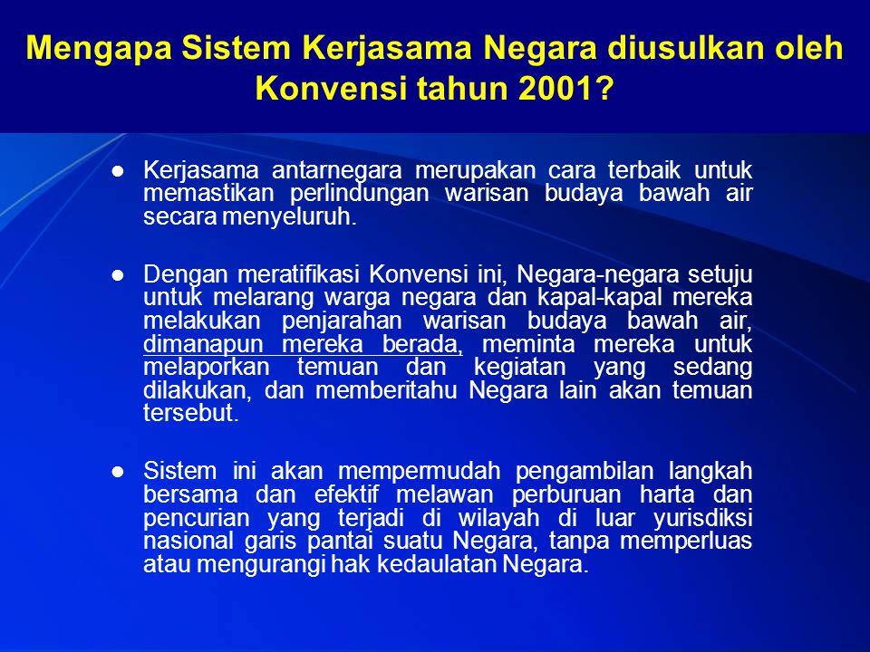 Mengapa Sistem Kerjasama Negara diusulkan oleh Konvensi tahun 2001
