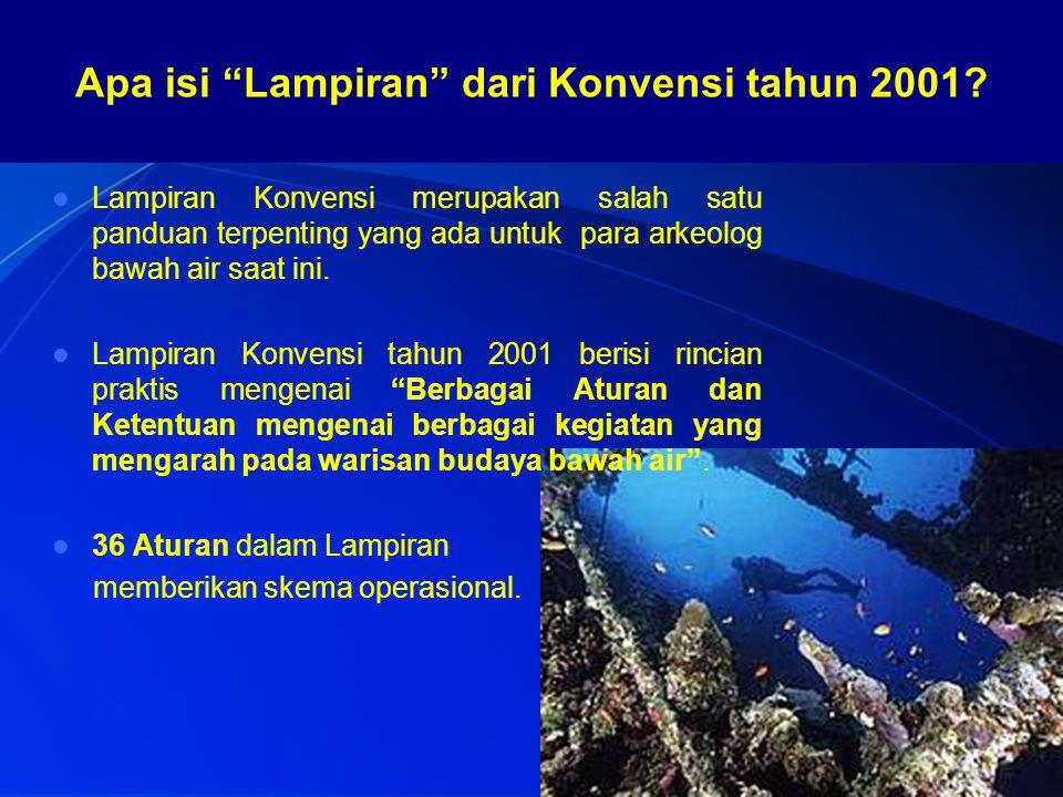 Apa isi Lampiran dari Konvensi tahun 2001