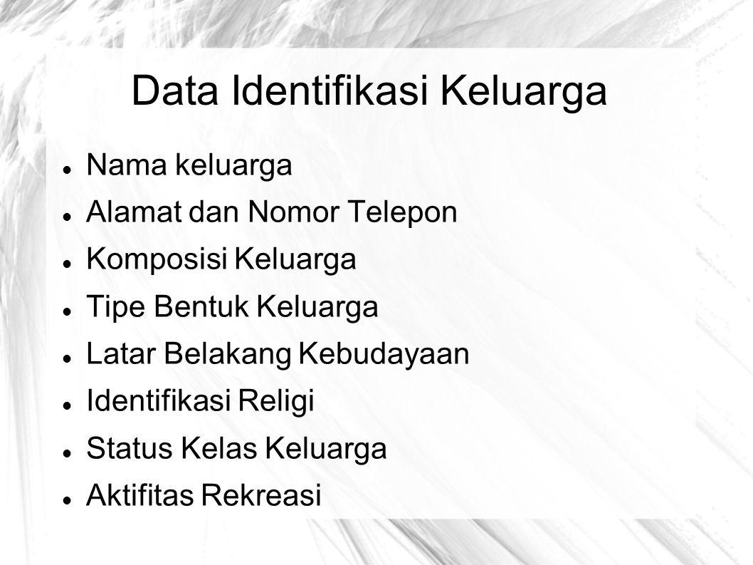 Data Identifikasi Keluarga
