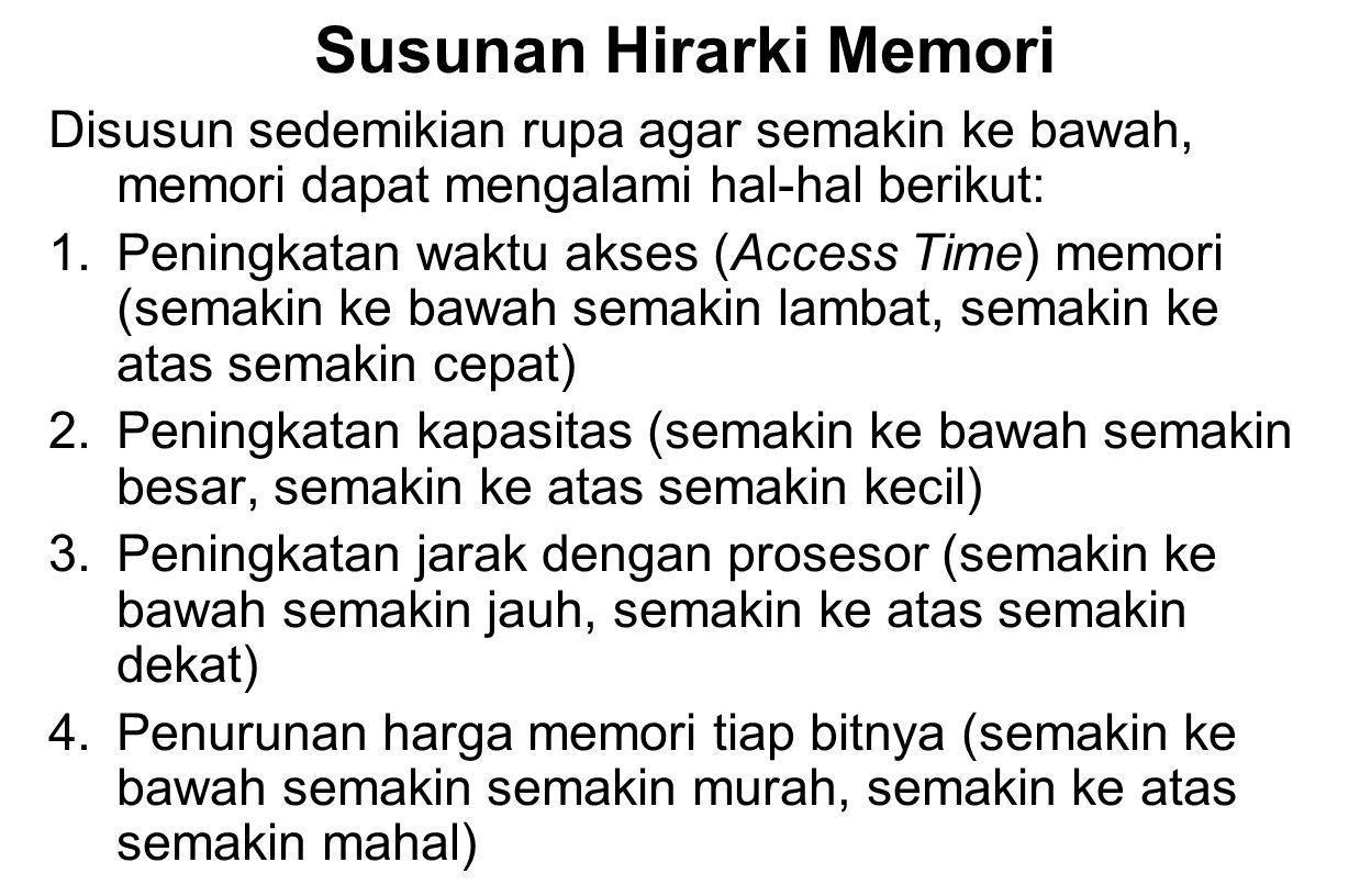 Susunan Hirarki Memori