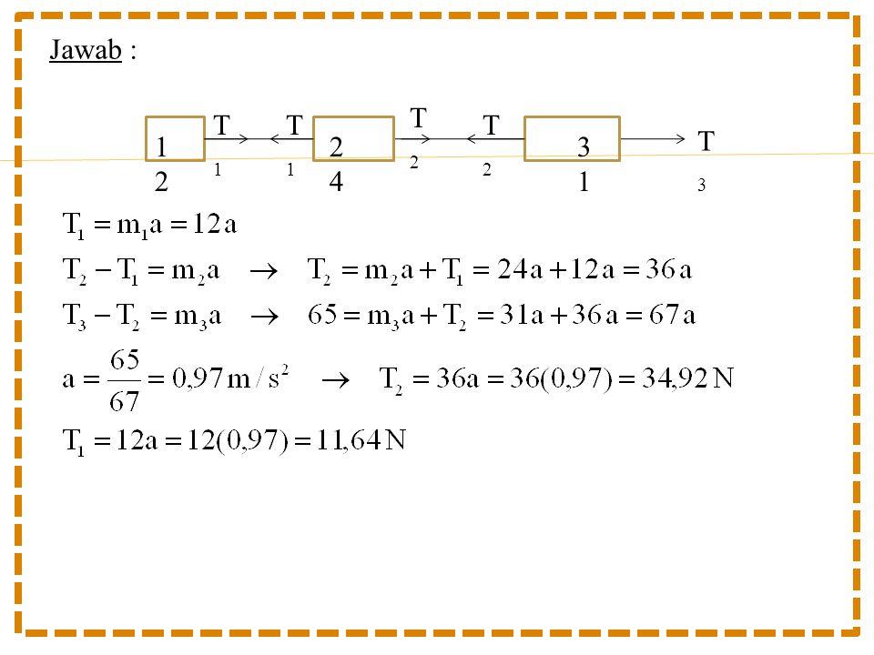 Jawab : T2 T1 T1 T2 T3 12 24 31