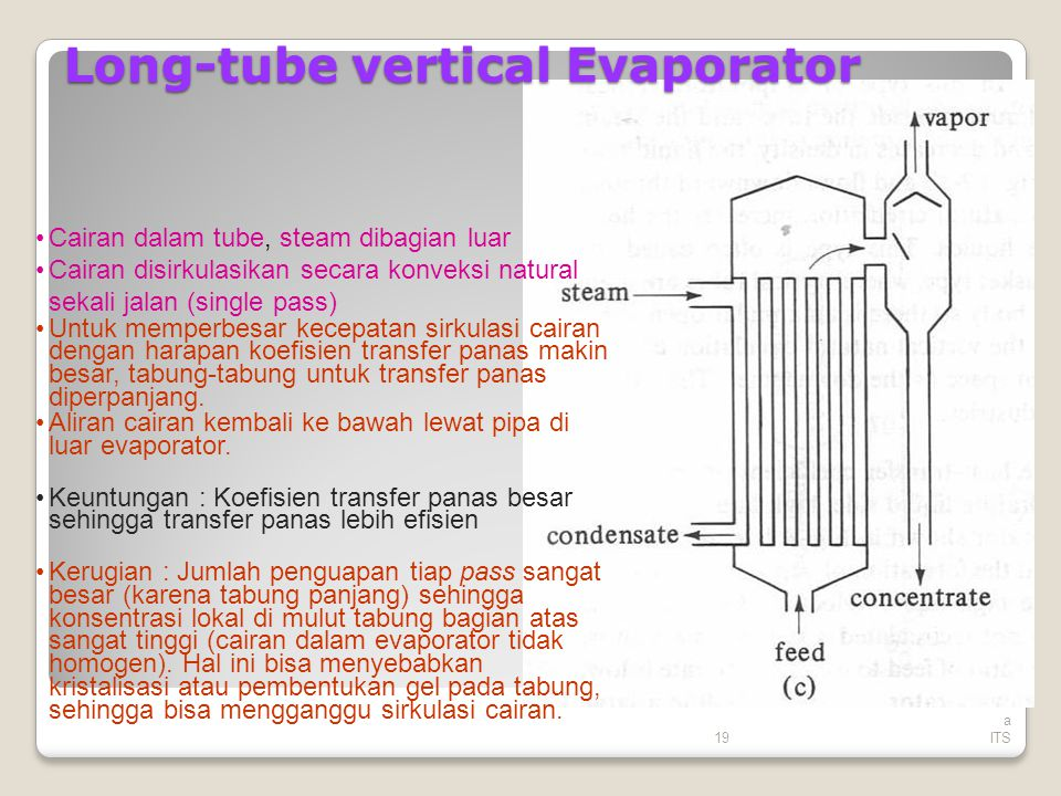 Long-tube vertical Evaporator