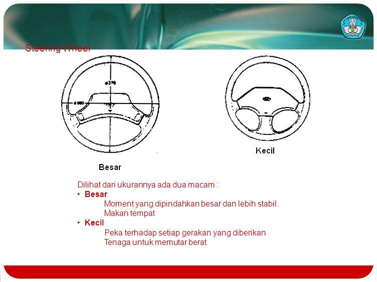 Steering Wheel Dilihat dari ukurannya ada dua macam : Besar