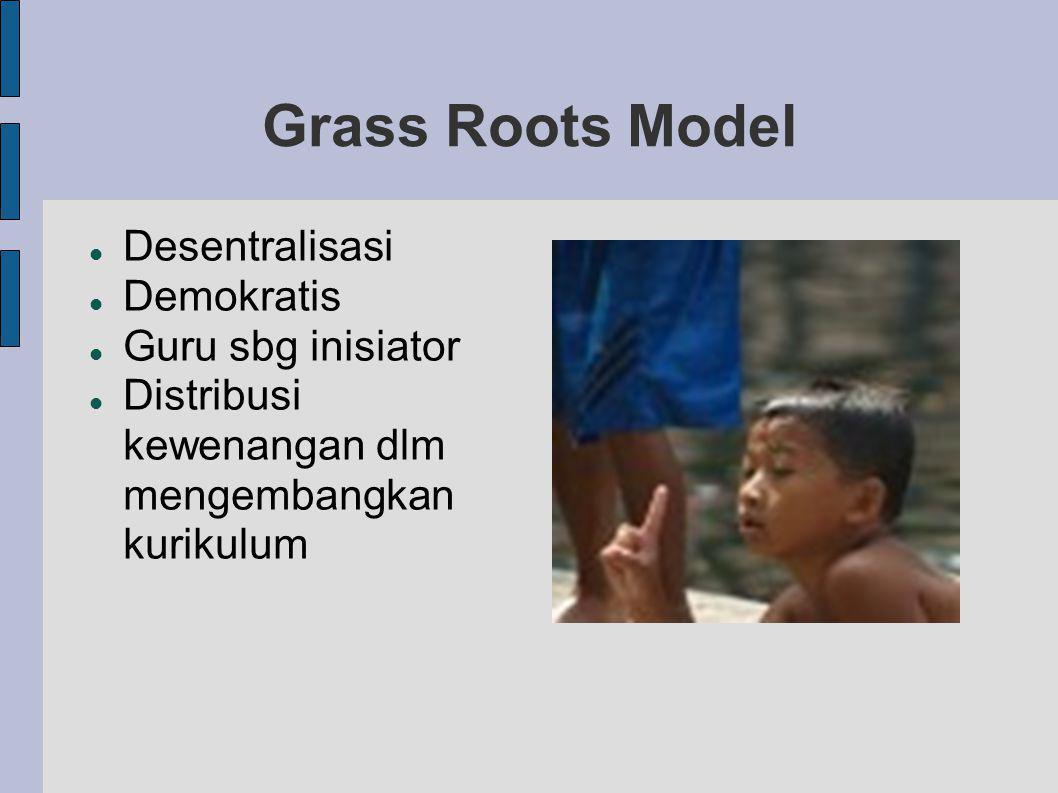 Grass Roots Model Desentralisasi Demokratis Guru sbg inisiator