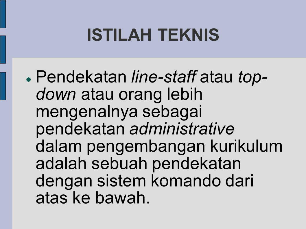 ISTILAH TEKNIS