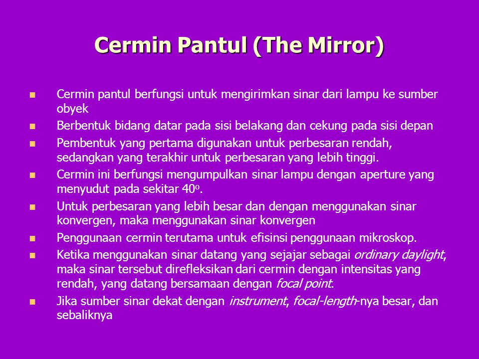 Cermin Pantul (The Mirror)