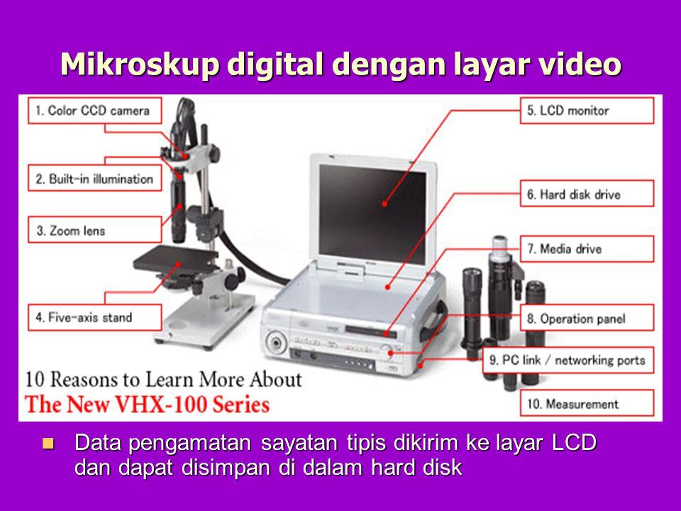 Mikroskup digital dengan layar video