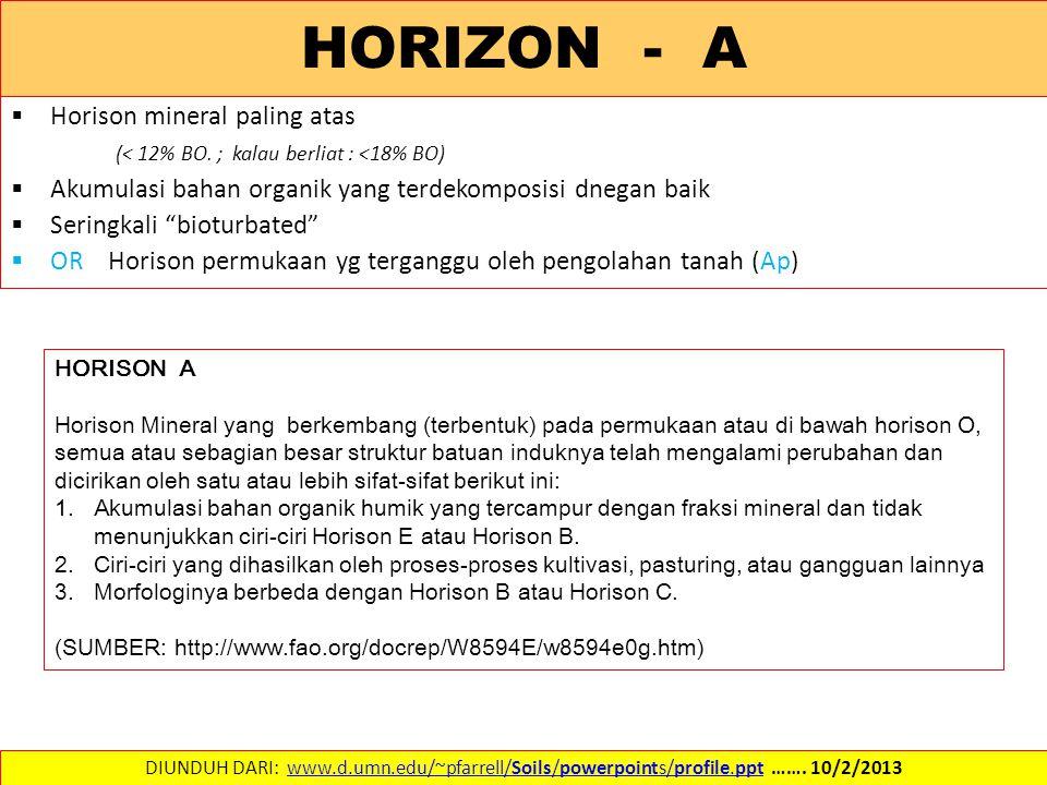 HORIZON - A Horison mineral paling atas