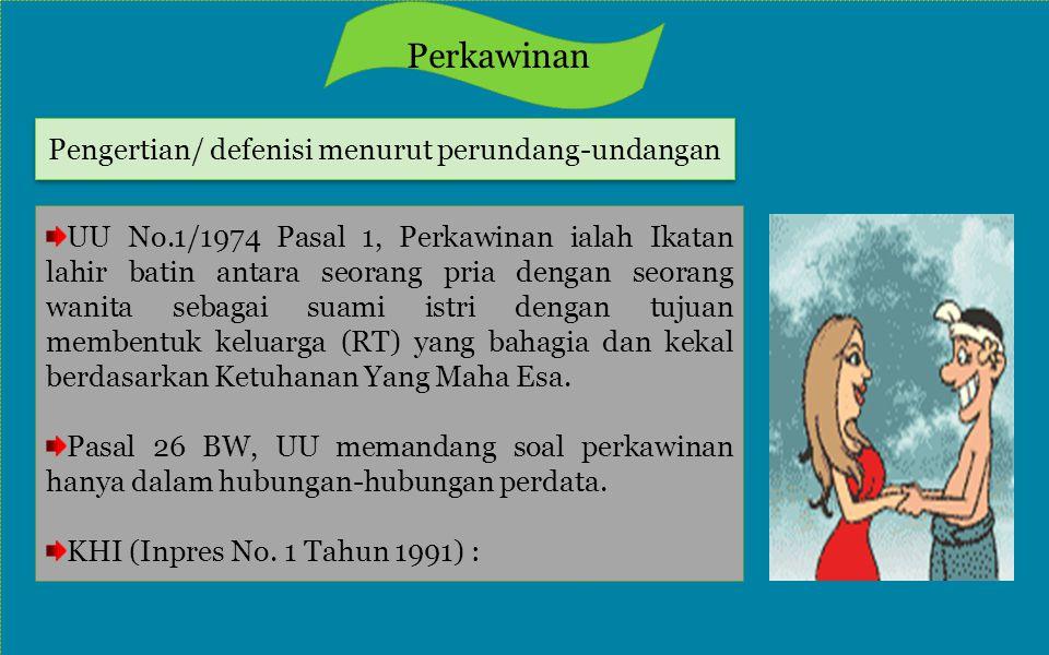 Pengertian/ defenisi menurut perundang-undangan