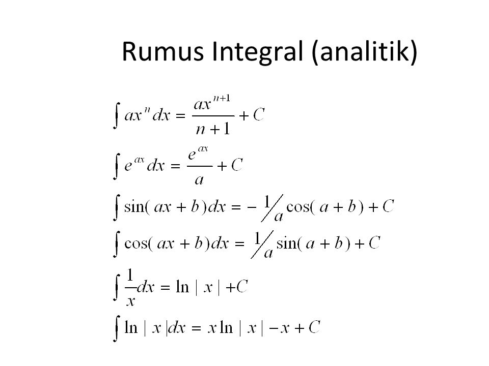 Rumus Integral (analitik)