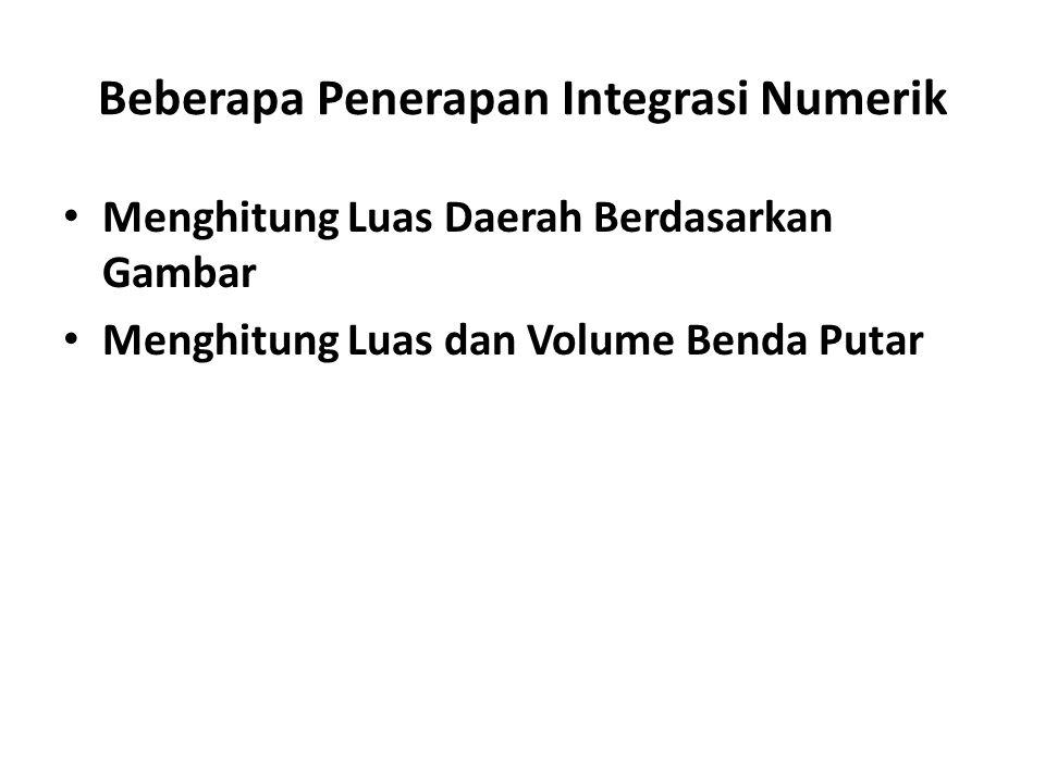 Beberapa Penerapan Integrasi Numerik