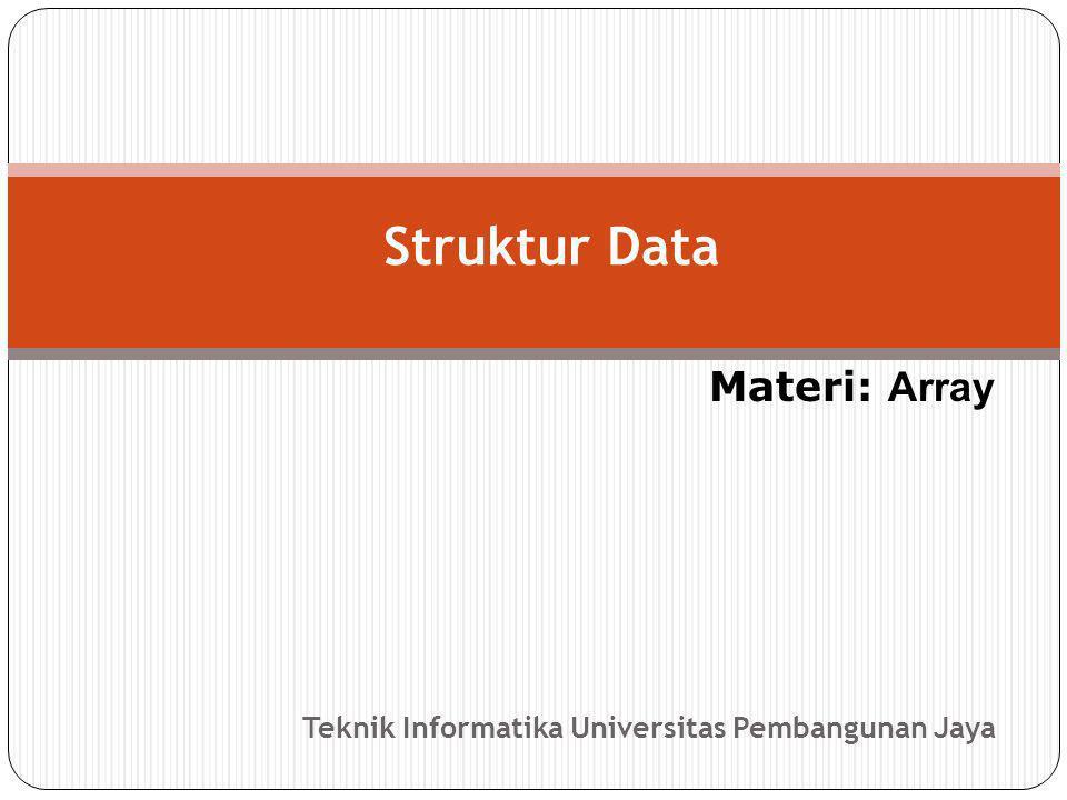 Teknik Informatika Universitas Pembangunan Jaya