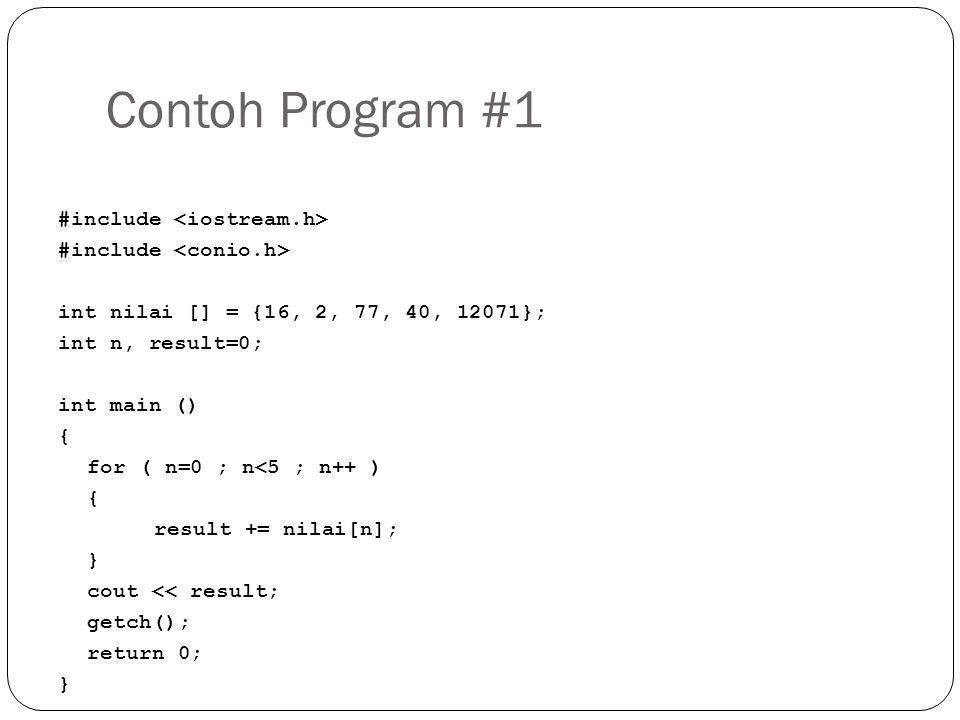 Contoh Program #1