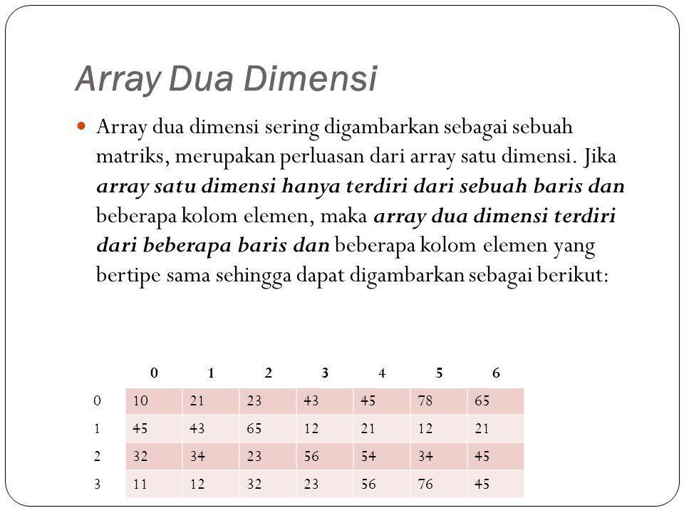 Array Dua Dimensi