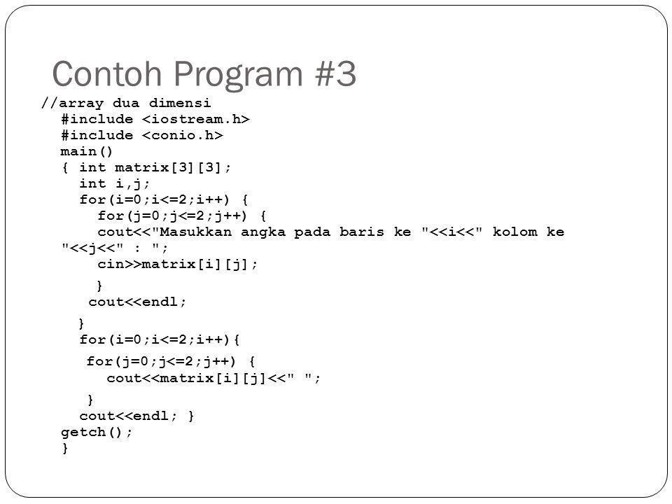 Contoh Program #3