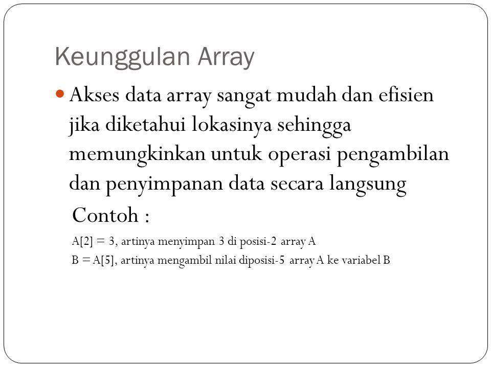 Keunggulan Array