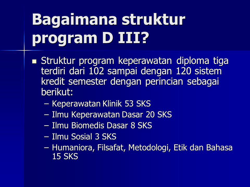 Bagaimana struktur program D III