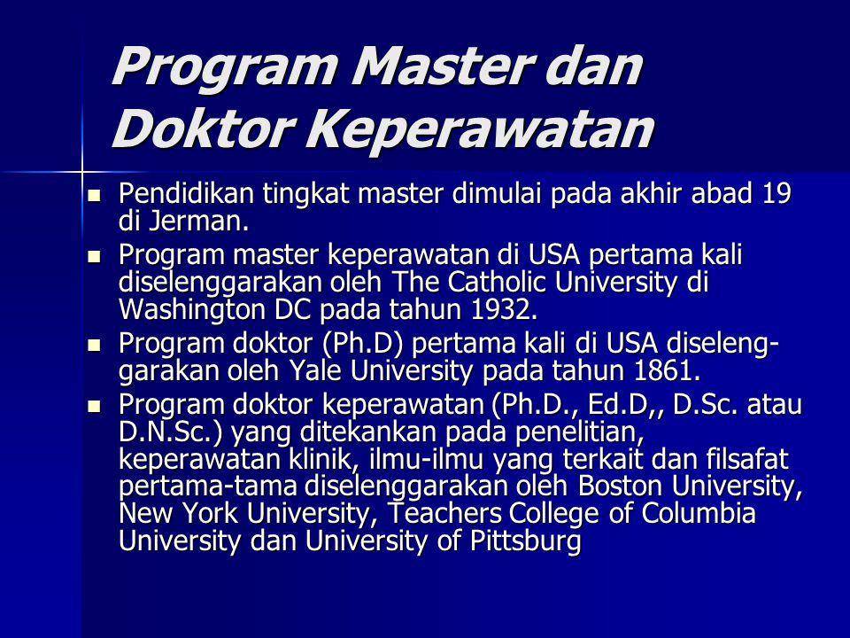 Program Master dan Doktor Keperawatan