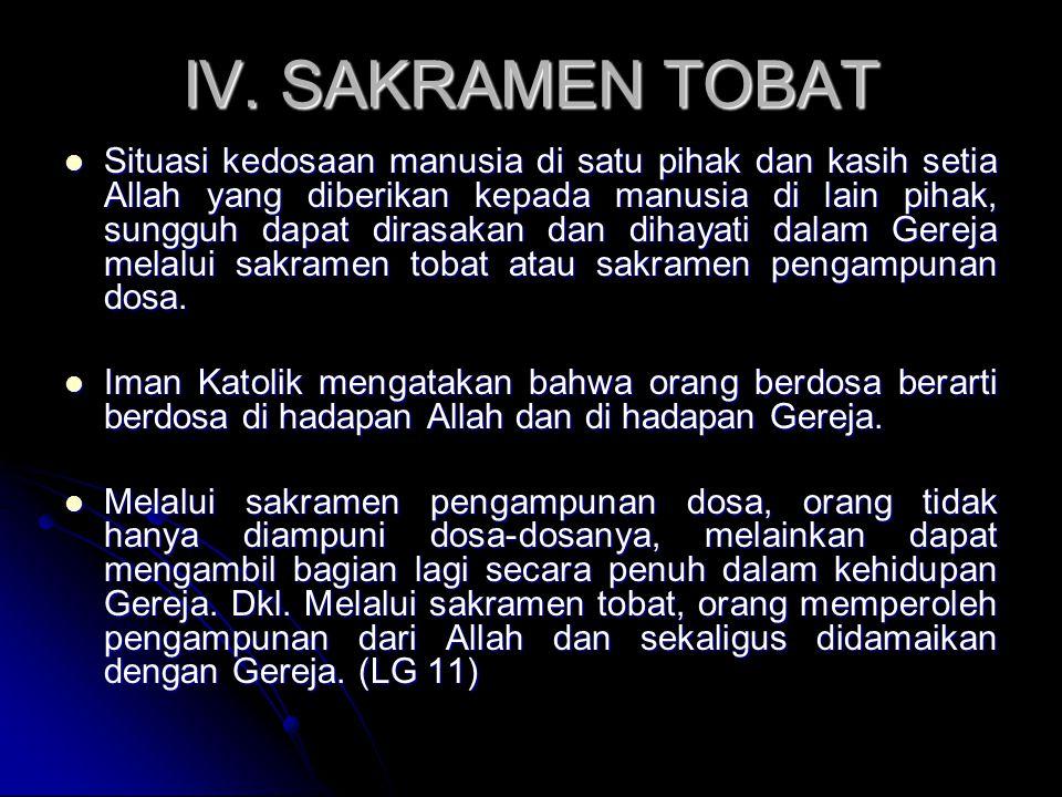 IV. SAKRAMEN TOBAT