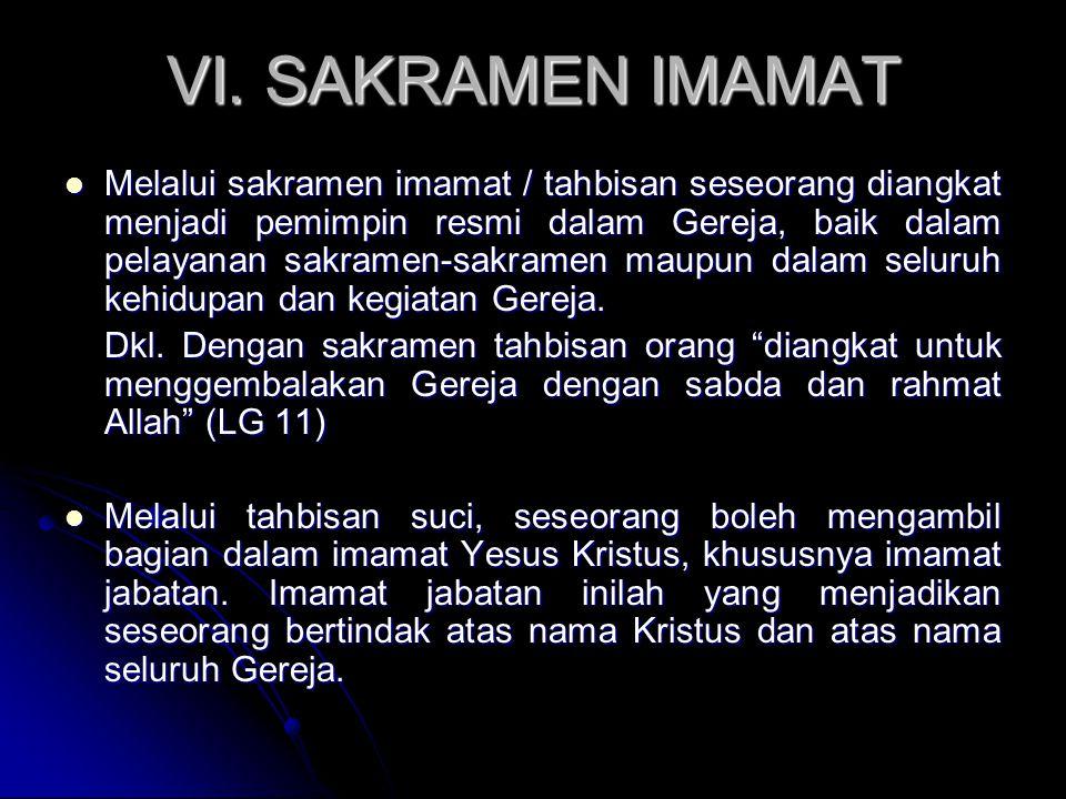 VI. SAKRAMEN IMAMAT