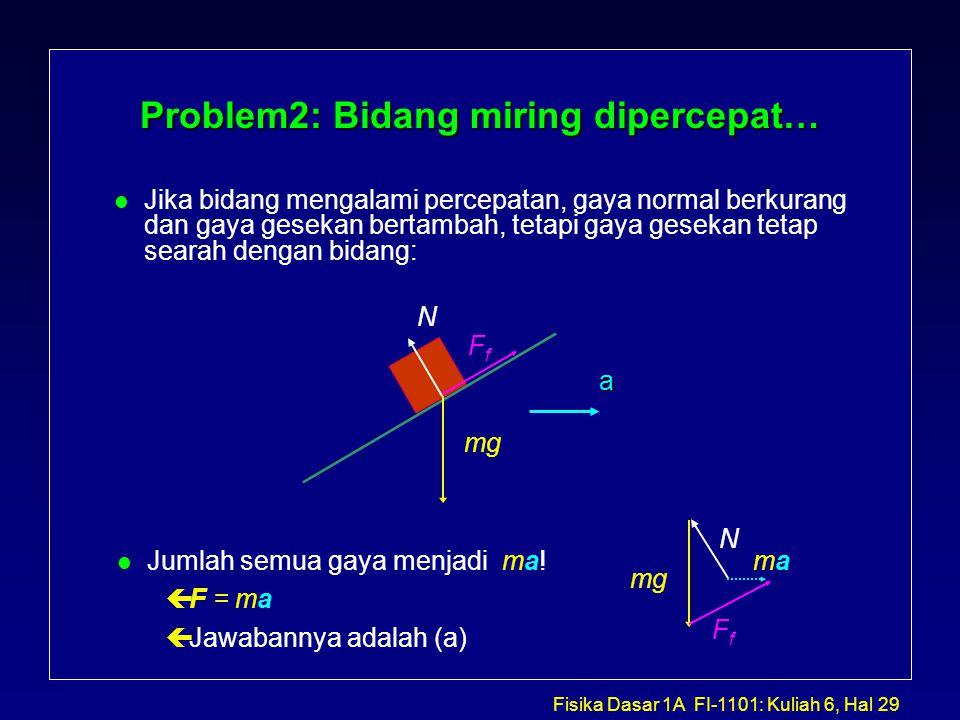 Problem2: Bidang miring dipercepat…